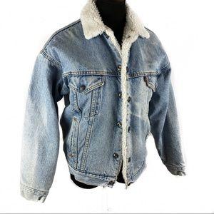 Vintage 70's Levi's Sheerling lined jean jacket